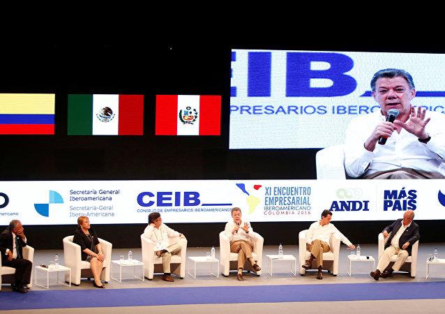 Juan Manuel Santos interviene en la XXV Cumbre Iberoamericana de Jefes de Estado y de Gobierno