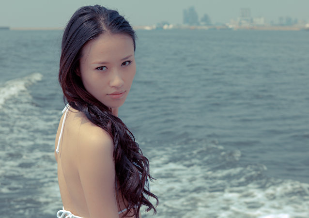 Una mujer asiática