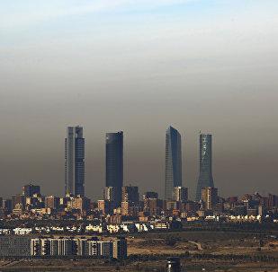 La contaminación en Madrid, España