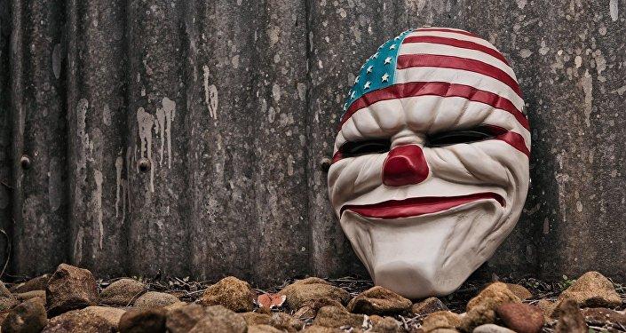 Payaso. Bandera de EEUU