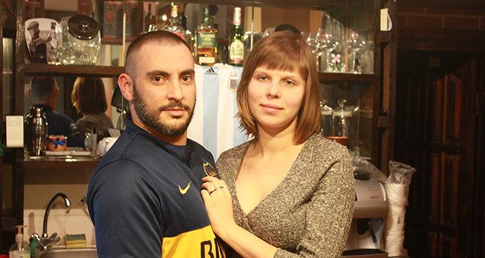 Jorge Cantatore con su mujer Elena