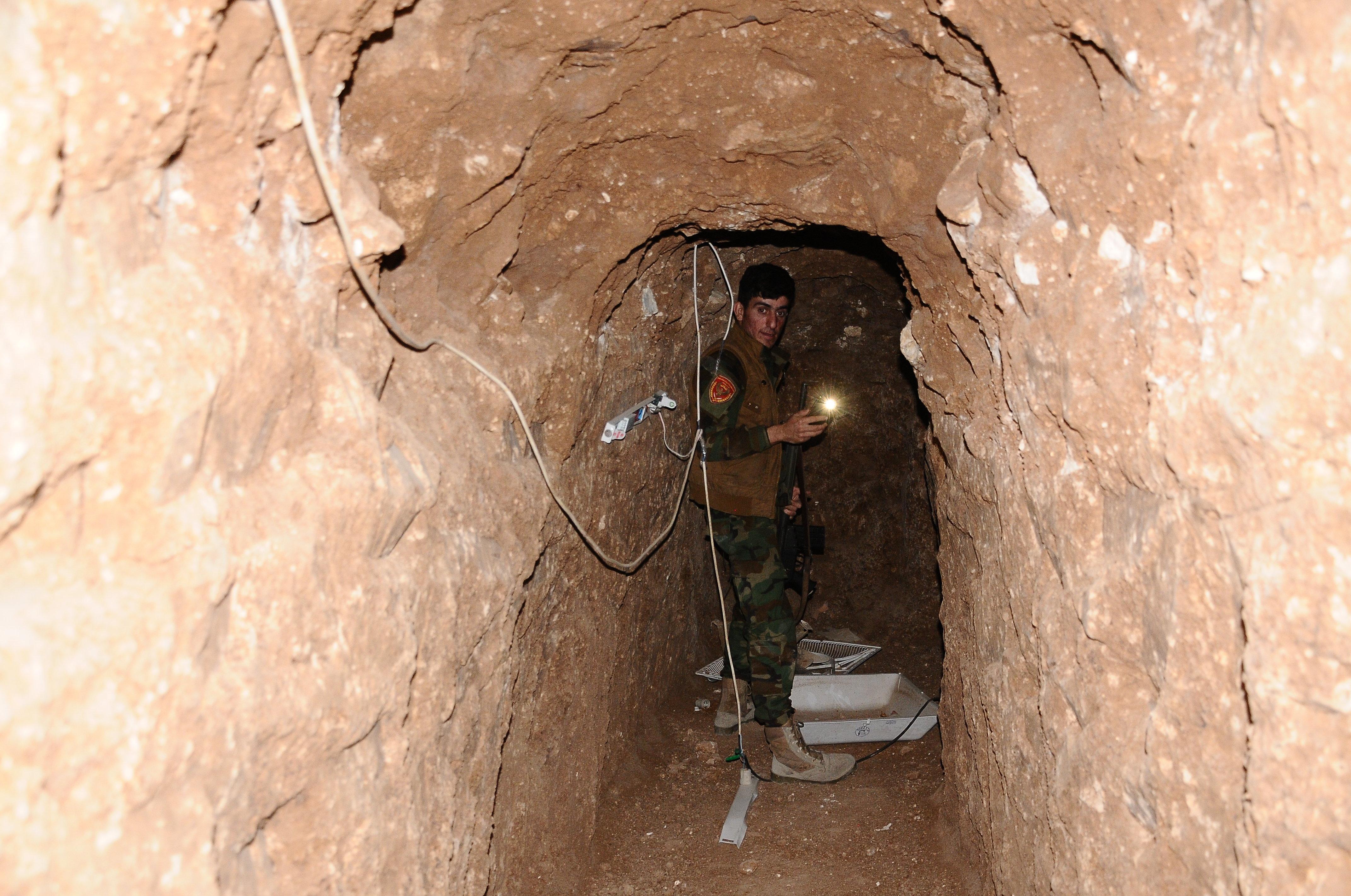 Los túneles construidos por Daesh
