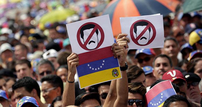 Protesta de oposición en Venezuela (archivo)