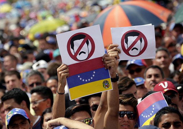 Protesta de oposición en Venezuela
