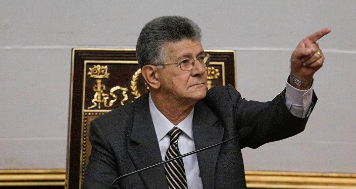 Henry Ramos Allup, presidente de la Asamblea Nacional venezolana