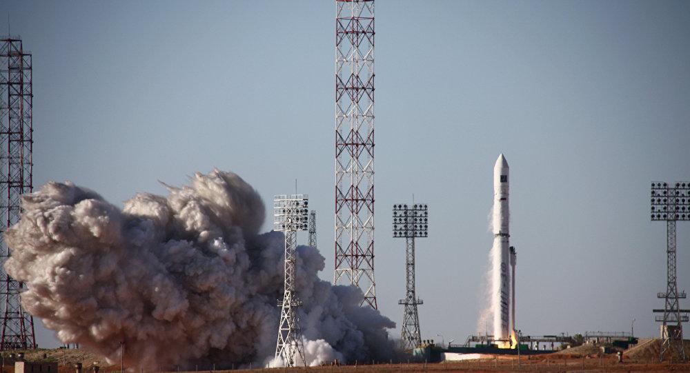 El lanzamiento del cohete portador de fabricación ucraniana Zenit-3 desde el cosmódromo Baikonur (archivo)
