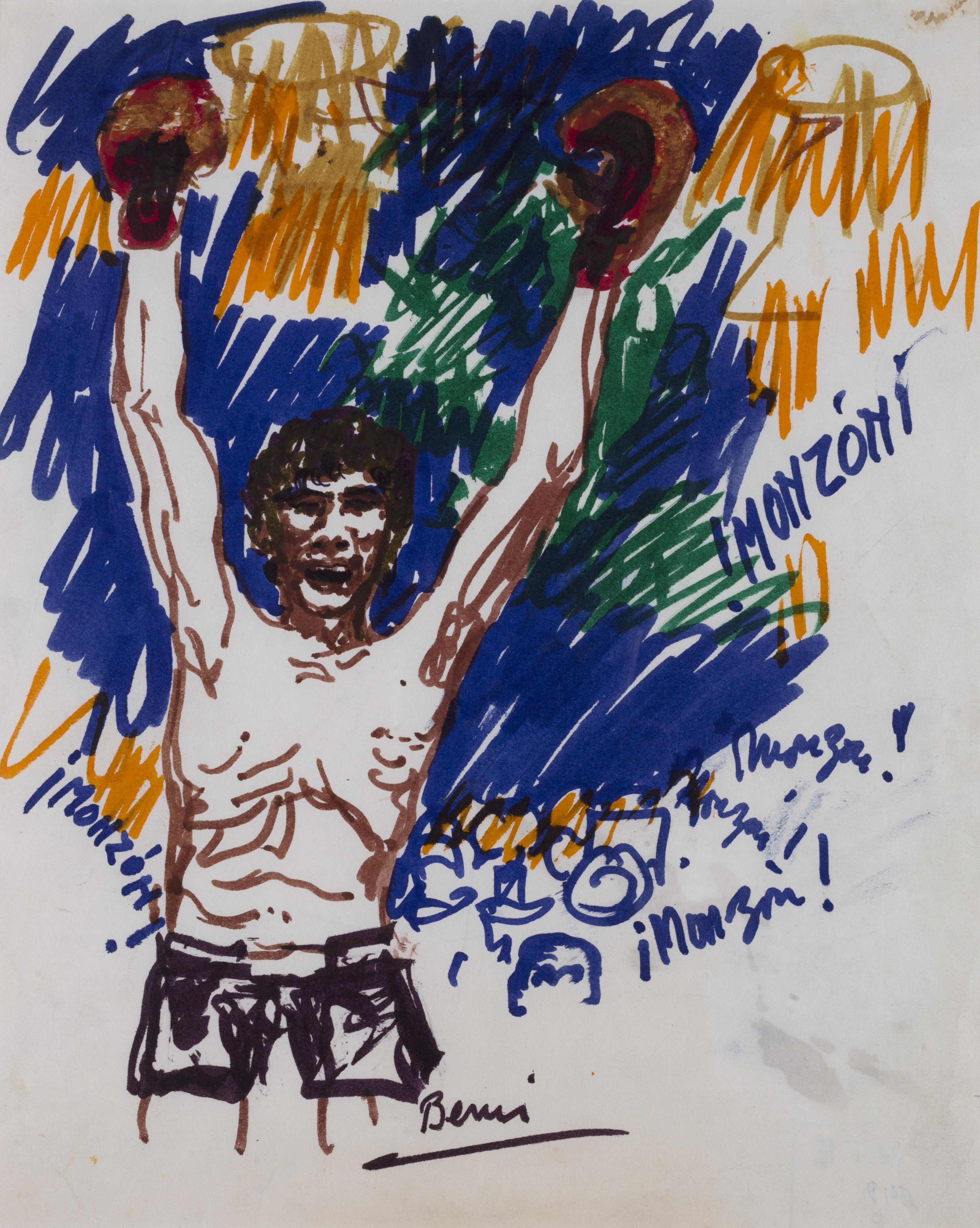 Sin título, 1977. Marcador sobre papel