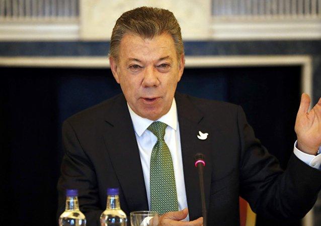 Juan Manuel Santos, el presidente de Colombia (archivo)