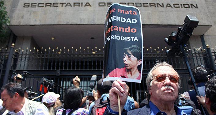 Reporteros mexicanos demandan que expliquen medidas para proteger la vida e integridad de las y los periodistas, 2012 (archivo)