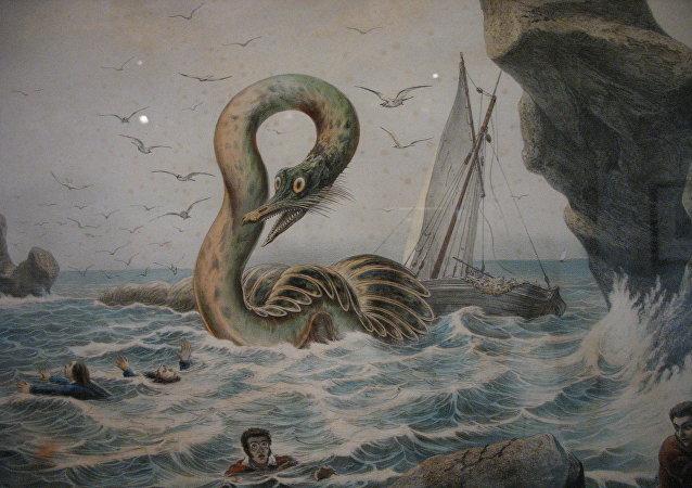 Un monstruo acuático