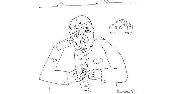Una ilustración del libro 'Desde las trincheras de Ucrania. Crónica de una guerra civil, global e informativa'