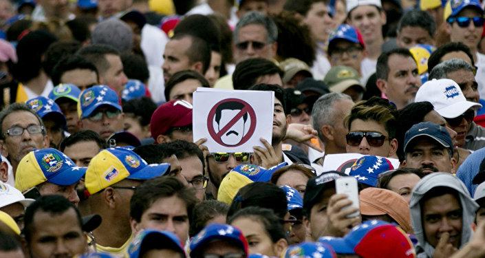 Protesta de la oposición en Caracas, Venezuela (achivo)