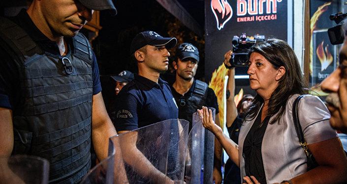 Pervin Buldan, la vicepresidente de la Gran Asamblea Nacional de Turquía y miembro del Partido Democrático de los Pueblos