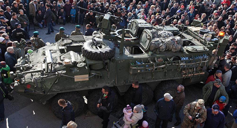 Los militares estadounidenses en la ciudad polaca de Bialystok