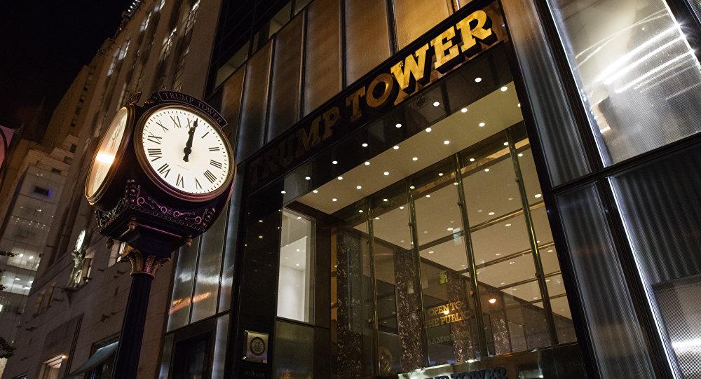 La entrada a la Torre Trump en Nueva York