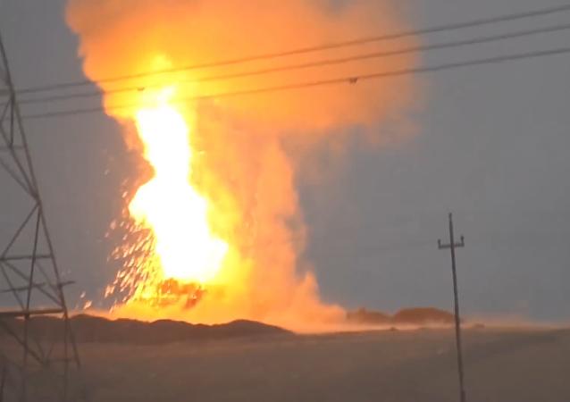 Explosión del M1 Abrams en Mosul