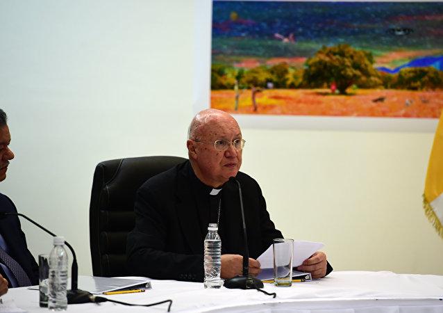 Claudio María Celli, enviado especial del Vaticano a Venezuela