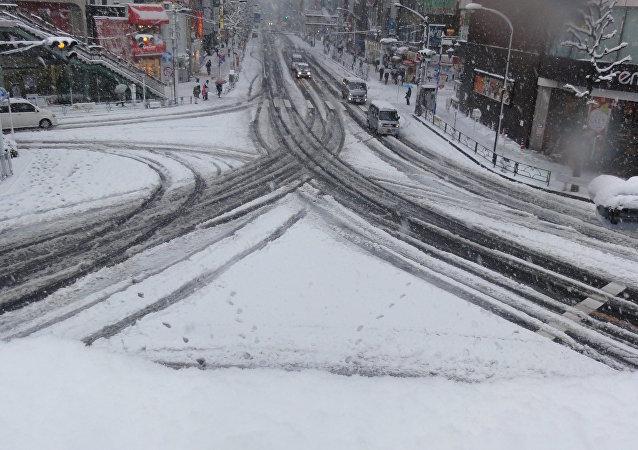 Una nevada en Japón (archivo)