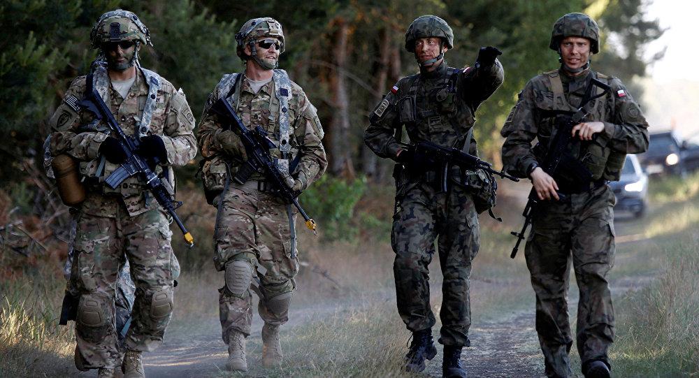 Los soldados de la OTAN en Polonia