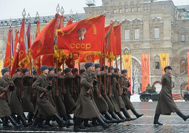 La Plaza Roja acoge una marcha solemne dedicada al 75 aniversario del desfile militar de 1941