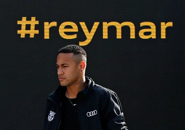 Neymar da Silva, delantero brasileño
