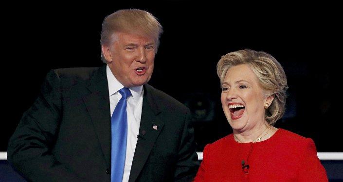 Donald Trump, presidente de EEUU, y Hillary Clinton, candidata a la presidencia, en 2016