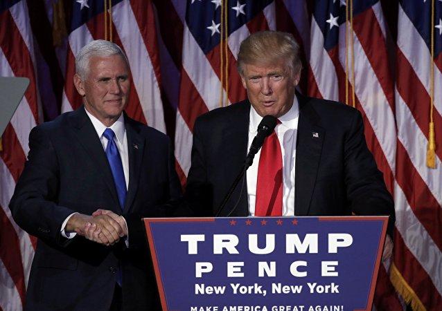 Donald Trump, el ganador de las elecciones presidenciales en EEUU y Mike Pence, su vicepresidente