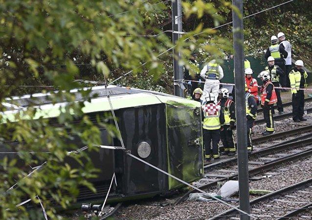 Accidente de tranvía en Londres