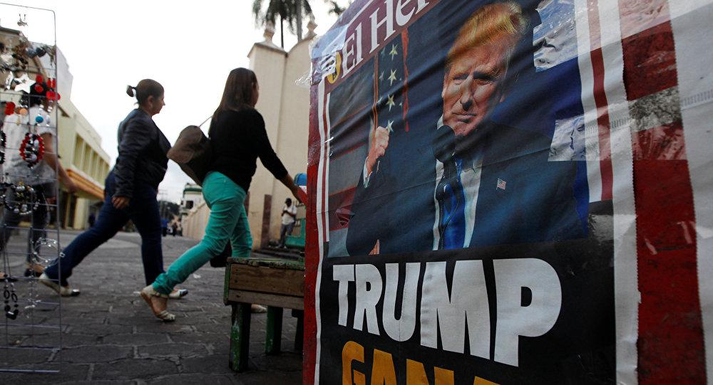Portada de un periódico con la imagen de Donald Trump, presidente electo de EEUU