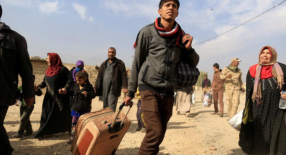 Los civiles en Mosul, Irak