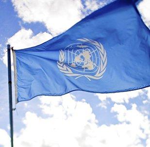 La bandera de la ONU