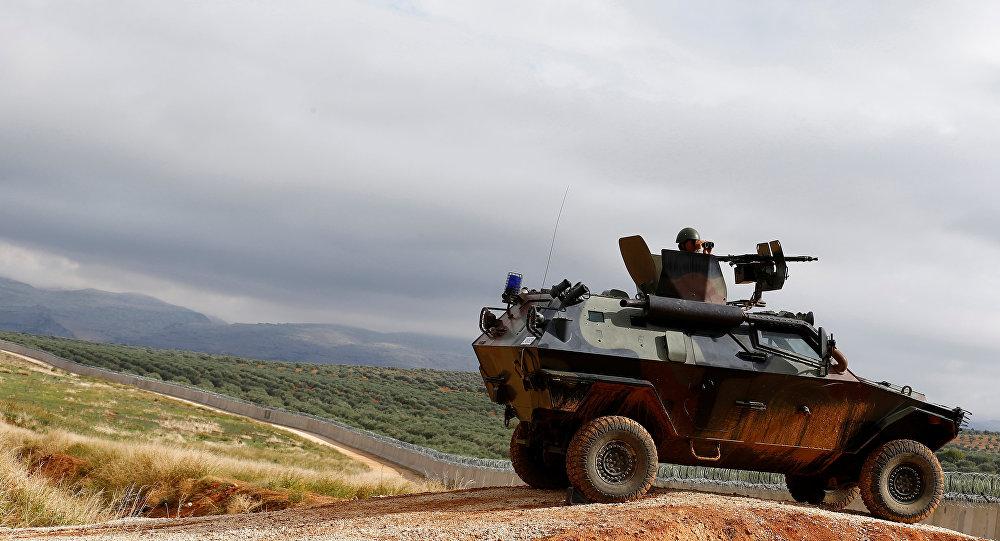 Un vehículo militar de Turquía en Siria