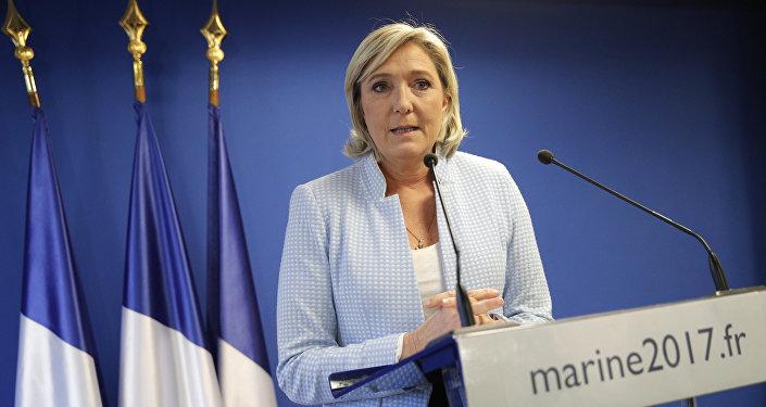 Marine Le Pen, líder del Frente Nacional de Francia (archivo)