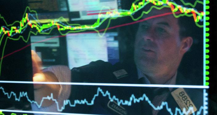Un gráfico financiero