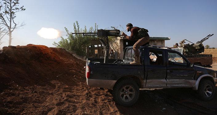 Rebeldes sirios en la región de Alepo