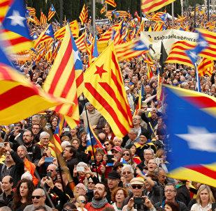 Las manifestaciones en Cataluña