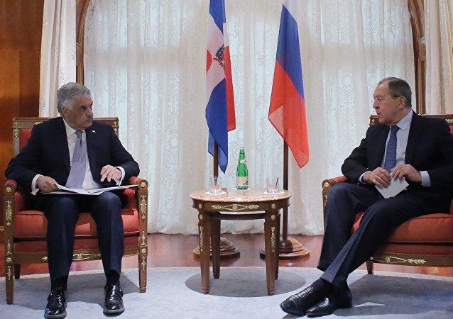Serguéi Lavrov, canciller ruso, durante un encuentro celebrado en Sochi con su homólogo dominicano Miguel Vargas