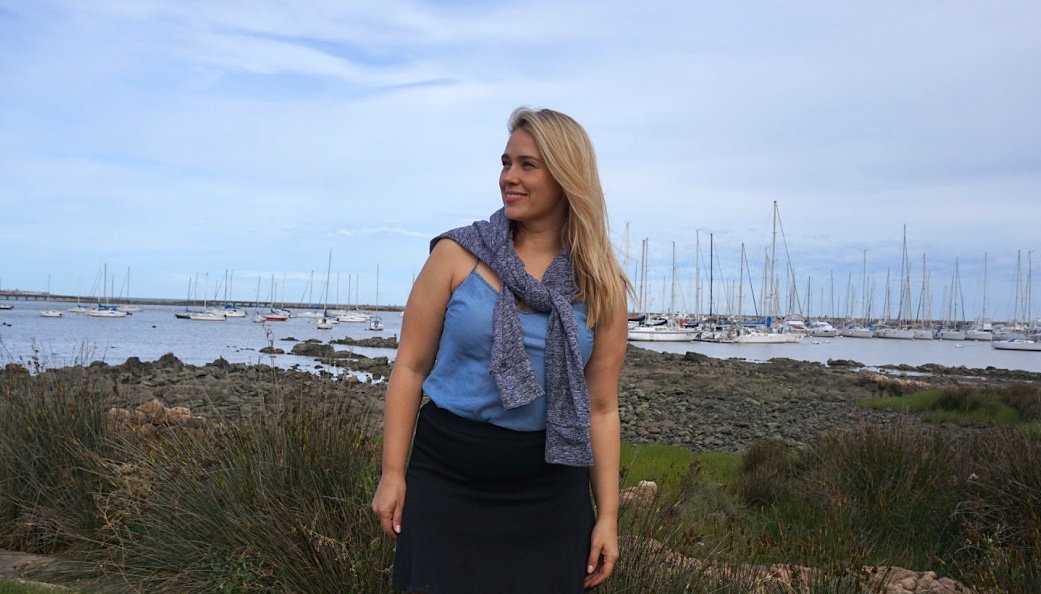 La modelo rusa 'plus size' Marina Bulátkina, residente en Nueva York, en Montevideo
