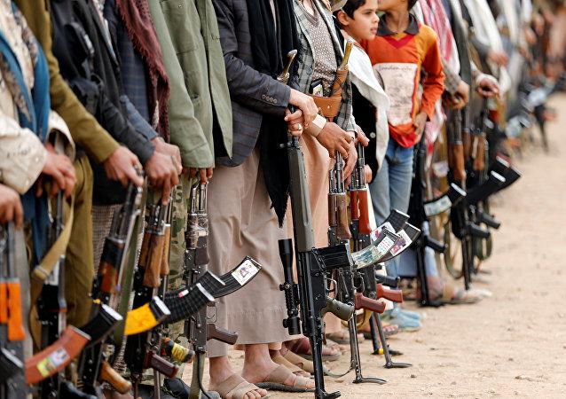 Partidarios de hutíes en Sana, Yemen (archivo)