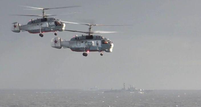 Helicópteros rusos en Siria