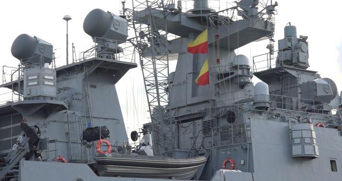 La fragata Almirante Grigorovich en el Mediterráneo (archivo)