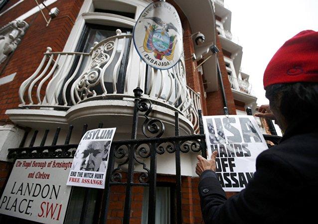 Embajada de Ecuador en Londres (archivo)