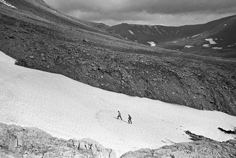 Geólogos en los Urales del Norte (archivo, noviembre de 1973)