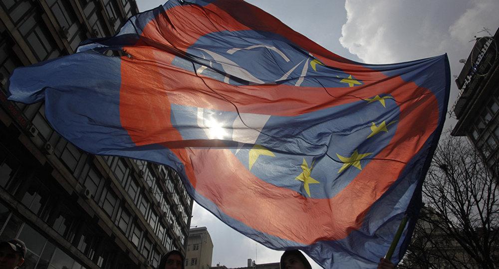 Protesta contra la OTAN en Belgrado, Serbia (archivo)