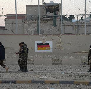 Bandera de Alemania en Afganistán