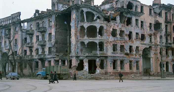 La ciudad de Grozni durante el conflicto de Chechenia de 1994-1996