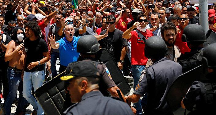 La manifesrtación en Río de Janeiro, Brasil (archivo)