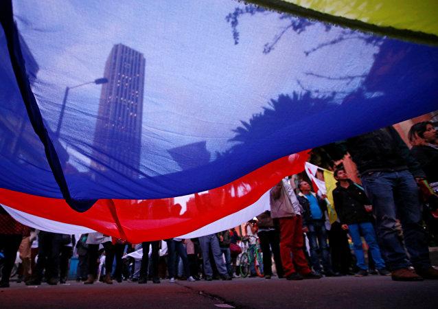 Marcha a favor de paz con FARC, Colombia