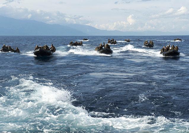Una patrulla en el mar de Joló