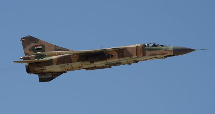 Caza MiG-23 de las Fuerzas Aéreas de Siria